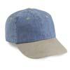 6 Pnl Denim/Washed Visor