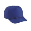 Poplin Leather Strap Golf Cap