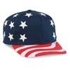 6 Pnl USA Flag Pro Style Cap
